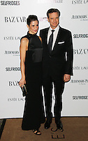 Livia Firth; Colin Firth, Harper's Bazaar Women of the Year Awards, Claridge's Hotel, London UK, 05 November 2013, Photo by Richard Goldschmidt