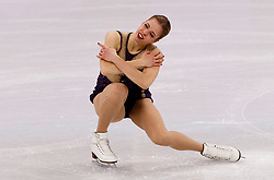 February 12, 2018 - Gangneung, South Korea - Carolina Kostner of Italy compete during the Team Event Ladies Single Skating FS at the PyeongChang 2018 Winter Olympic Games at Gangneung Ice Arena on Monday February 12, 2018. (Credit Image: © Paul Kitagaki Jr. via ZUMA Wire)