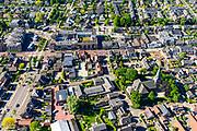 Nederland, Utrecht, Woudenberg, 29-05-2019; dorpskern met dorpsstraat.<br /> Village center with village street.<br /> luchtfoto (toeslag op standard tarieven);<br /> aerial photo (additional fee required);<br /> copyright foto/photo Siebe Swart