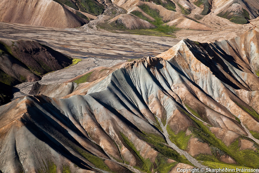 Arial view of Landmannalaugar, central highlands, Iceland