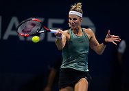 Mandy Minella of Luxembourg in action during the first qualifications round at the 2018 US Open Grand Slam tennis tournament, New York, USA, August 22th 2018, Photo Rob Prange / SpainProSportsImages / DPPI / ProSportsImages / DPPI