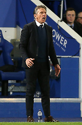 Leicester City manager Claude Puel reacts from the touchline during the Premier League match at the King Power Stadium, Leicester.