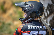 #93 (STEVAUX CARNAVAL Priscilla Andreia) BRA during practice at Round 5 of the 2018 UCI BMX Superscross World Cup in Zolder, Belgium