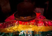 Abril y Mayo 2011/Bolivia<br /> en la fotografía el sobrero típico  de Carmen Rosa junto con el cinturón de Campeona de Lucha Libre Boliviana<br /> <br /> Foto:Juan Gonzalez
