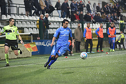 November 3, 2018 - Vercelli, Italy - Italian midfielder Diego Peralta from Novara Calcio team playing during Saturday evening's match against Pro Vercelli team valid for the 10th day of the Italian Lega Pro championship  (Credit Image: © Andrea Diodato/NurPhoto via ZUMA Press)