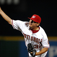 01 June 2007:  Washington Nationals pitcher Chad Cordero (32) pitches in the 9th inning against the San Diego Padres.  The Nationals defeated the Padres 4-3 in 10 innings at RFK Stadium in Washington, D.C.  ****For Editorial Use Only****