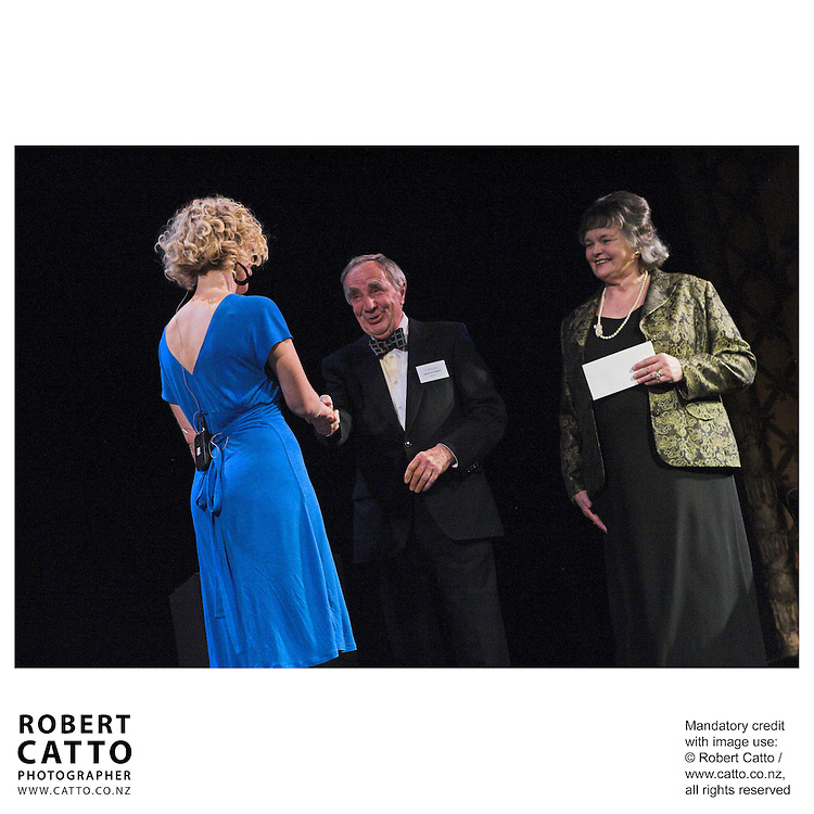 Eve Armstrong;Sir Miles Warren;Anne Mace at the Arts Foundation of New Zealand New Generation Awards at the St James Theatre, Wellington, New Zealand.<br />