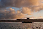 Colorful clouds at sunset from Espanola Island, Galapagos Archipelago - Ecuador.
