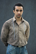Iraqi-born soldier-turned-actor Lewis Alsamari, pictured at the Edinburgh International Book Festival where he talked about his acting in the film United 93 about the 9/11 attacks. The Book Festival was the World's largest literary event and featured writers from around the world. The 2007 event featured around 550 writers and ran from 11-27 August.