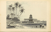 Choultry At Ramiseram From the book ' The Oriental annual, or, Scenes in India ' by the Rev. Hobart Caunter Published by Edward Bull, London 1834 engravings from drawings by William Daniell