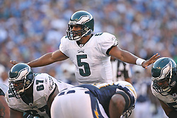 SAN DIEGO, CA - NOVEMBER 15: Donovan McNabb of the Philadelphia Eagles during a game against the San Diego Chargers on November 14, 2009 at Qualcomm Stadium in San Diego, California. The Chargers won 31-23. (Photo by Hunter Martin)