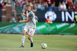 July 28, 2018 - Ann Arbor, Michigan, United States - Nathaniel Phillips (47) of Liverpool carries the ball during an International Champions Cup match between Manchester United and Liverpool at Michigan Stadium in Ann Arbor, Michigan USA, on Wednesday, July 28,  2018. (Credit Image: © Amy Lemus/NurPhoto via ZUMA Press)