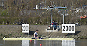 Caversham  Great Britain.<br /> Angus GROOM wait's to turn to start his time trial, run at the 2016 GBR Rowing Team Olympic Trials GBR Rowing Training Centre, Nr Reading  England.<br /> <br /> Tuesday  22/03/2016 <br /> <br /> [Mandatory Credit; Peter Spurrier/Intersport-images]