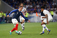 Antoine Griezmann of France and Weston Mckennie of USA during the 2018 Friendly Game football match between France and USA on June 9, 2018 at Groupama stadium in Decines-Charpieu near Lyon, France - Photo Romain Biard / Isports / ProSportsImages / DPPI