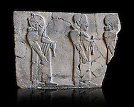 Relief panels orthostat with representation by court officials, they served as a wall covering of palaces at the castle of Sam'al - Zincirli. Pergamon Museum, Berlin,