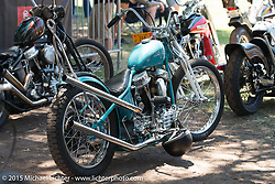 Harley-Davidson Panhead on Day two of the Born Free Vintage Chopper and Classic Motorcycle Show at the Oak Canyon Ranch in Silverado, CA. USA. Sunday, June 29, 2014.  Photography ©2014 Michael Lichter.