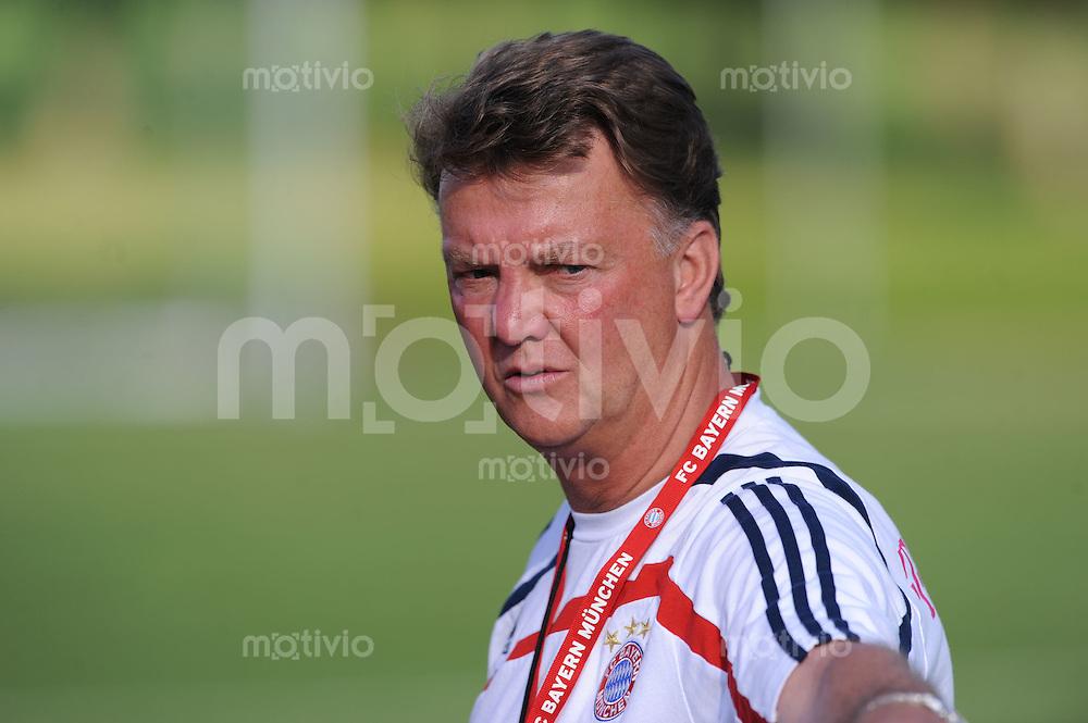 FUSSBALL     1. BUNDESLIGA     SAISON 2009/2010     16.07.2009 Trainingslager des FC Bayern Muenchen  in Donaueschingen Trainer Louis van Gaal  ( FC Bayern )