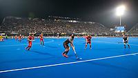 BHUBANESWAR, INDIA -  Jonas de Geus (Ned)   tijdens   de  finale tussen België en Nederland (0-0) bij het WK Hockey heren in het Kalinga Stadion. Belgie wint na shoot-outs. COPYRIGHT KOEN SUYK