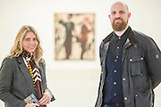 by Ryan Mosley with the exhibtion director - PAINTERS' PAINTERS: Artists of today who inspire artists of tomorrow, featuring the work of nine present-day painters ranging from their 30s to their 60s at the Saatchi Gallery. There are nine artists included in the exhibition, whose aim is to start a discussion about the importance of painting and its future as a contemporary art form, given that installation, sculpture and video dominate the art world. The exhibition includes, Turner Prize nominee Dexter Dalwood whose paintings reimagine the lives of celebrities including Kurt Cobain, Brian Jones and Jackie Onassis, and  Norwegian Artist Bjarne Melgaard, the man behind the world's most controversial chair, Shropshire artist David Brian Smith, who uses his shepherd father as inspiration for his work and LA artist Raffi Kalenderian who helped found the band Wounded Lion. London 29 Nov 2016.