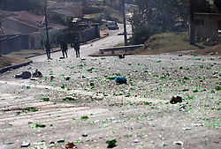 South Africa - Durban - 13 August 2020 - KwaMakhutha, South of Durban protesters clash with police when they took to the streets, burning tyres and blocking the roads with rubble, voicing their anger over proposed demarcation in the area<br /> Picture: Doctor Ngcobo/African News Agency(ANA)