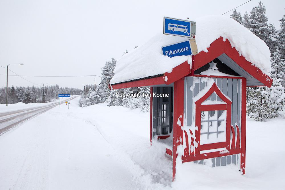busstation in Finland