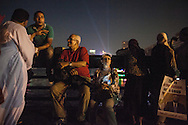 People of all ages attended demonstrations against Egyptian President Mohammed Morsi, who was democratically elected just over a year ago, on a bridge crossing the Nile river in Cairo.