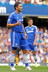 Chelsea's Frank Lampard and Chelsea's Eden Hazard  - Photo mandatory by-line: Mitchell Gunn/JMP - Tel: Mobile: 07966 386802 18/08/2013 - SPORT - FOOTBALL - Stamford Bridge - London -  Chelsea v Hull City - Barclays Premier League