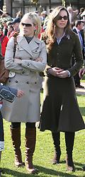 Kate Middleton and Zara Phillips at the Cheltenham Festival in 2007.    Photo by: Stephen Lock / i-Images