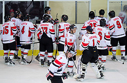 Players of Austria  during the ice hockey match between National teams of Lithuania (LTU) and Austria (AUT) at 2011 IIHF World U20 Championship Division I - Group B, on December 12, 2010 in Ice skating Arena, Bled, Slovenia.  (Photo By Vid Ponikvar / Sportida.com)