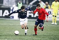 Fotball , 22. april 2012 , Tippeligaen , Eliteserien<br /> Strømsgodset - Viking<br /> Gustav Mendonca Wikheim , SIF<br /> Valon Berisha , Viking