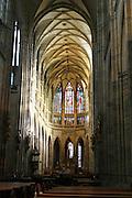 Czech Republic, Prague Interior of St Vitus Cathedral, Hradcany Castle
