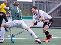 AMSTELVEEN -Fergus Kavanagh (Amsterdam)  tijdens de competitie hoofdklasse hockeywedstrijd heren, Amsterdam -Rotterdam (2-0) .  COPYRIGHT KOEN SUYK