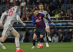 May 1, 2019 - Barcelona, Barcelona, Spain - Messi of Barcelona in action during UEFA Champions League football match, between Barcelona and Liverpool, May 01th, in Camp Nou stadium in Barcelona, Spain. (Credit Image: © AFP7 via ZUMA Wire)
