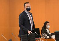 DEU, Deutschland, Germany, Berlin, 31.03.2021: Bundesgesundheitsminister Jens Spahn (CDU) vor Beginn der 136. Kabinettsitzung im Bundeskanzleramt.