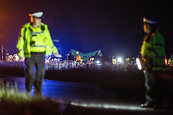© Licensed to London News Pictures . 21/07/2014 . Ranby , UK . Police at the scene where three people have died in a crash involving a number of vehicles on the A1 road at Ranby, near Worksop, Nottinghamshire this morning (21/07/2014).  Photo credit : Joel Goodman/LNP
