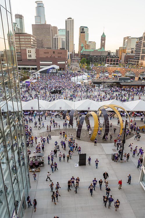 Minnesota Vikings vs. New York Giants on October 3, 2016 at U.S. Bank Stadium in Minneapolis, Minnesota.  Photo by Ben Krause/Minnesota Vikings