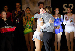 Lucija Mlinaric with coaches during special artistic roller skating event when Lucija Mlinaric of Slovenia, World and European Champion ended her successful sports career, on November 7, 2015 in Rence, Slovenia. Photo by Vid Ponikvar / Sportida
