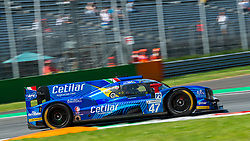 The only italian team in the European Le Mans Series, the LMP2 of CETILAR VILLORBA CORSE (drivers Roberto LACORTE, Giorgio SERNAGIOTTO and Felipe NASR) here at first chicane in Monza during the ELMS 4 hours 2018.