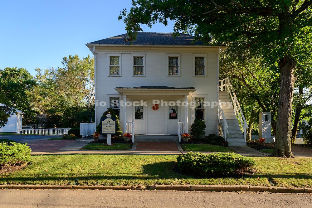 Photo of the house where Clark Gable was born in Cadiz, Ohio.