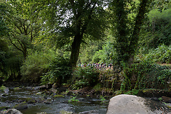 Peloton along the river on lap two at Grand Prix de Plouay Lorient Agglomération a 121.5 km road race in Plouay, France on August 26, 2017. (Photo by Sean Robinson/Velofocus)