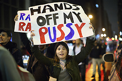 November 9, 2016 - New York, US, UK - New York, USA. Thousands of anti-Trump protesters march from Union Square to Trump Tower in New York City, on Wednesday, 9 November 2016 following the presidential election won by Donald Trump. (Credit Image: © Tolga Akmen/London News Pictures via ZUMA Wire)