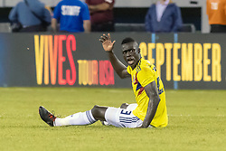 September 11, 2018 - East Rutherford, NJ, U.S. - EAST RUTHERFORD, NJ - SEPTEMBER 11: Colombia defender Davinson S‡nchez (23) looks to the officials for a call during the second half of the International Friendly Soccer match between Argentina and Colombia on September 11, 2018 at MetLife Stadium in East Rutherford, NJ. (Photo by John Jones/Icon Sportswire) (Credit Image: © John Jones/Icon SMI via ZUMA Press)