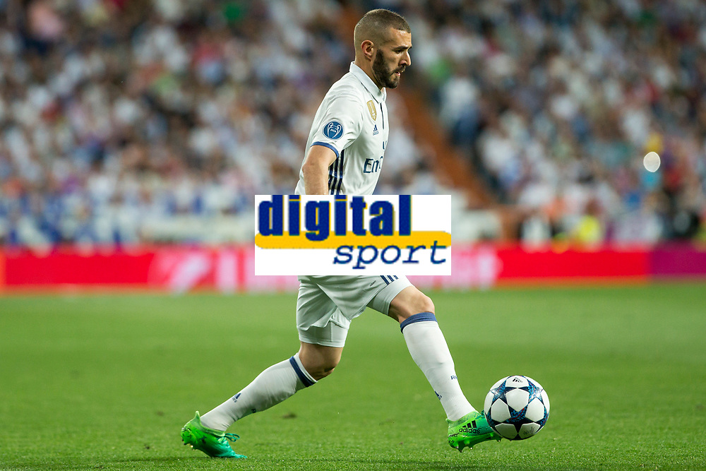 Karim Benzema of Real Madrid during the match of Champions League between Real Madrid and FC Bayern Munchen at Santiago Bernabeu Stadium  in Madrid, Spain. April 18, 2017. (ALTERPHOTOS)