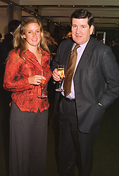 The HON.EMILY STONOR and her father LORD CAMOYS, at an exhibition of 4th February 1999.MNX 8