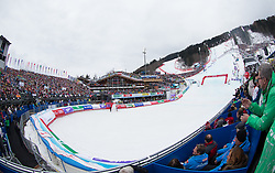 17.02.2013, Planai, Schladming, AUT, FIS Weltmeisterschaften Ski Alpin, Slalom, Herren, 2. Durchgang, im Bild Uebersicht Planai Stadion // overview Planai Stadium during 2nd run of the mens Slalom at the FIS Ski World Championships 2013 at the Planai Course, Schladming, Austria on 2013/02/17. EXPA Pictures © 2013, PhotoCredit: EXPA/ Johann Groder