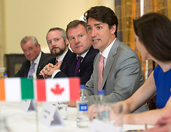 Prime Minister Justin Trudeau attends a business round table discussion Tuesday, July 4, 2017 in Dublin, Ireland. Photo by Ryan Remiorz/CP/ABACAPRESS.COM