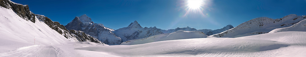 Winter Snow in the mountains near Grindelwald First - Swiss Alps - Switzerland .<br /> <br /> Visit our SWITZERLAND  & ALPS PHOTO COLLECTIONS for more  photos  to browse of  download or buy as prints https://funkystock.photoshelter.com/gallery-collection/Pictures-Images-of-Switzerland-Photos-of-Swiss-Alps-Landmark-Sites/C0000DPgRJMSrQ3U