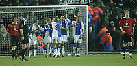 Photo: Aidan Ellis.<br /> Blackburn v Manchester United. Barclays Premiership. 01/02/2006.<br /> Blackburn celebrate the third goal