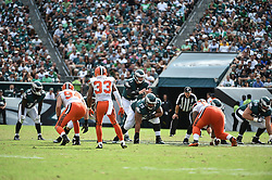 during the against the Cleveland Browns at Lincoln Financial Field on Sep 11, 2016 in Philadelphia, Pa. (Photo by John Geliebter/Philadelphia Eagles)