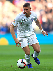 England's Ross Barkley during the UEFA Nations League, Group A4 match at Wembley Stadium, London. PRESS ASSOCIATION Photo. Picture date: Sunday November 18, 2018. See PA story SOCCER England. Photo credit should read: Mike Egerton/PA Wire. RESTRICTIONS: Use subject to FA restrictions. Editorial use only. Commercial use only with prior written consent of the FA. No editing except cropping.